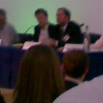 Blurry camera phone pic of Green Monday panel